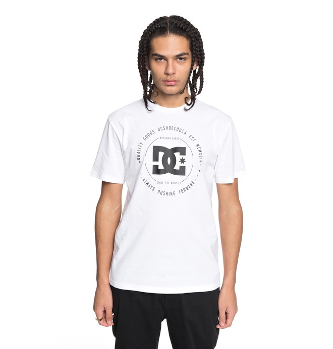 0 Rebuilt - T-Shirt White EDYZT03728 DC Shoes