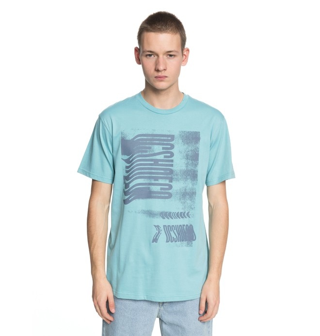 0 Men's Dynamic Vision Tee Blue EDYZT03747 DC Shoes