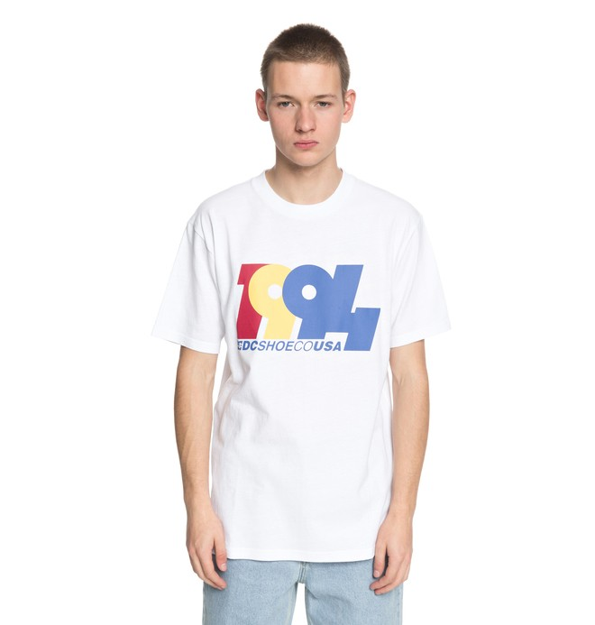 0 Graduate In 94 - T Shirt col rond Blanc EDYZT03762 DC Shoes