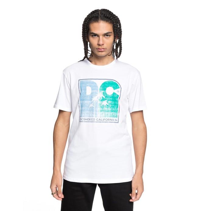 0 Sunset Palms - T-Shirt White EDYZT03767 DC Shoes