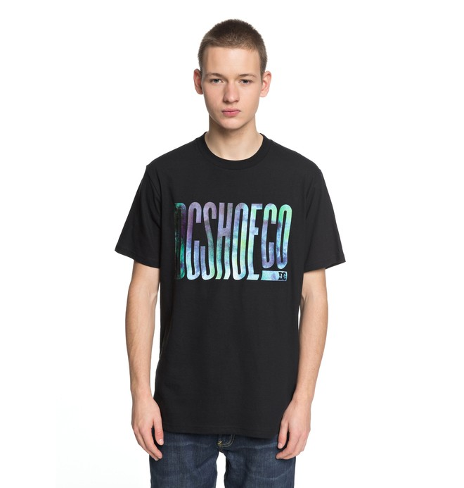 0 Men's Trippy Typed Tee Black EDYZT03773 DC Shoes