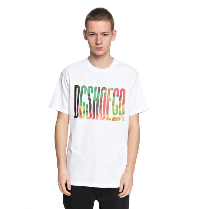 0 Trippy Typed - T-Shirt White EDYZT03773 DC Shoes