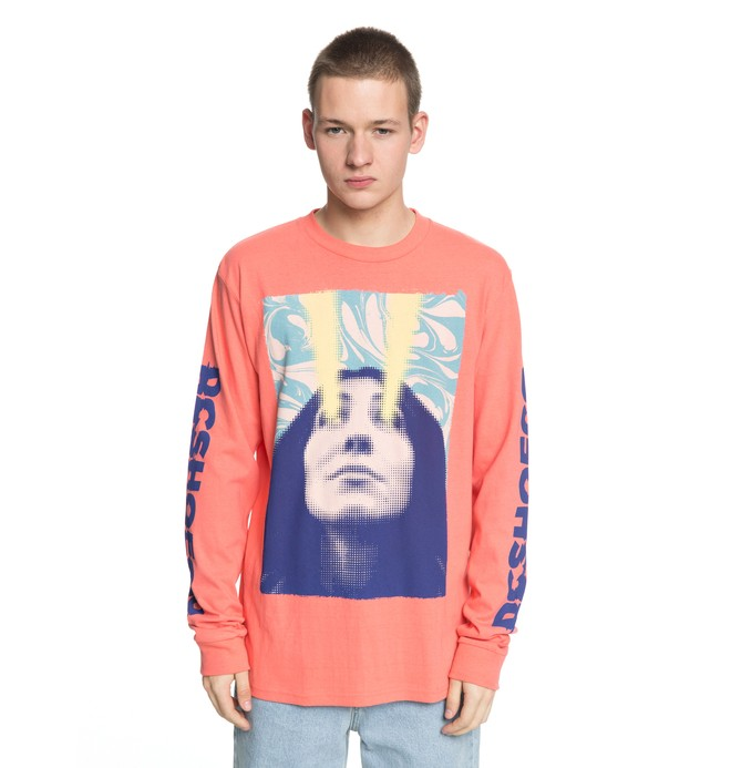 0 Laser Beam Long Sleeve Tee Pink EDYZT03774 DC Shoes