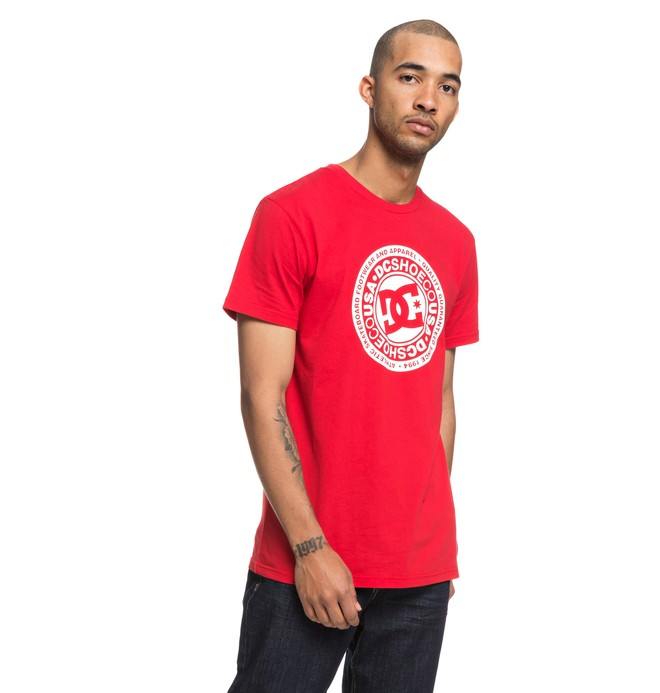 0 Circle Star - T-Shirt voor Heren Red EDYZT03823 DC Shoes