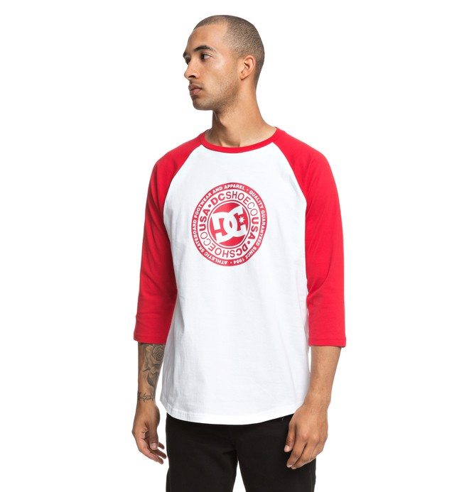 0 Research 3/4 Sleeve Tee Red EDYZT03832 DC Shoes