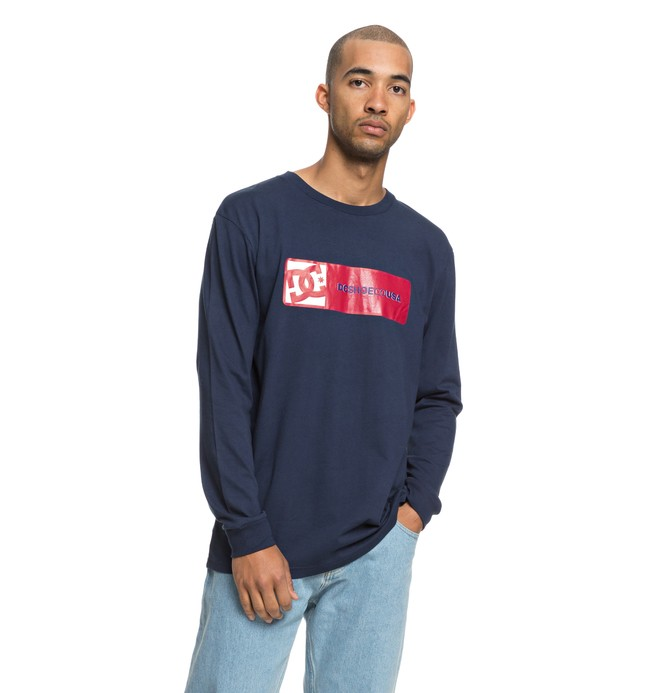 0 Men's Swaze Long Sleeve Tee Blue EDYZT03856 DC Shoes