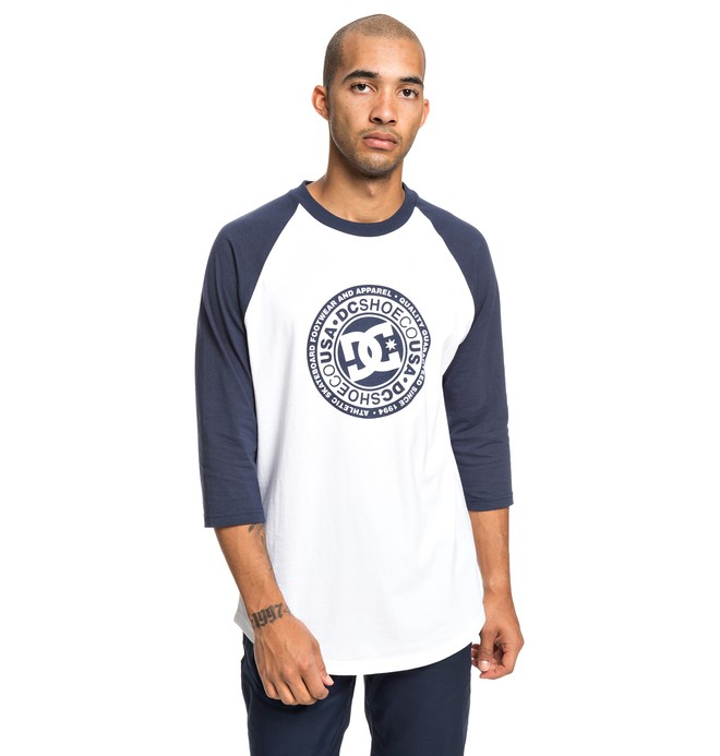 0 Research 3/4 Sleeve Tee Blue EDYZT03918 DC Shoes