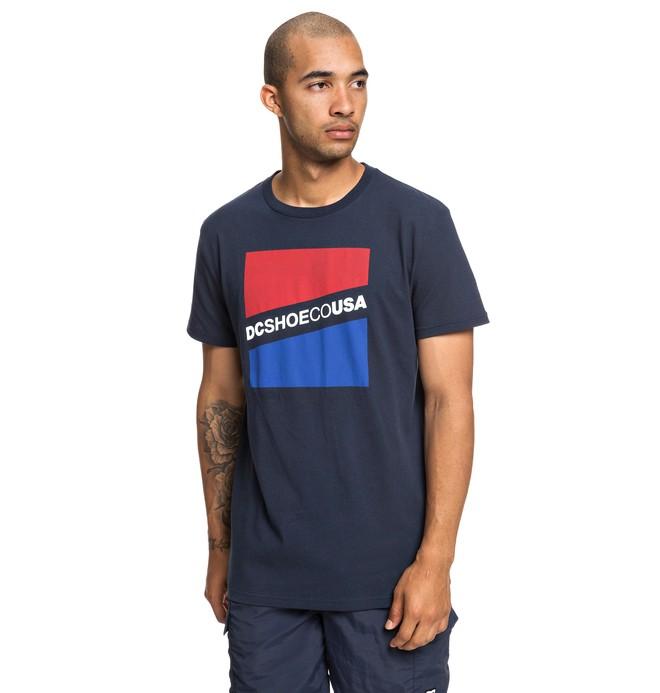 0 Slant - T-shirt pour Homme Bleu EDYZT03936 DC Shoes