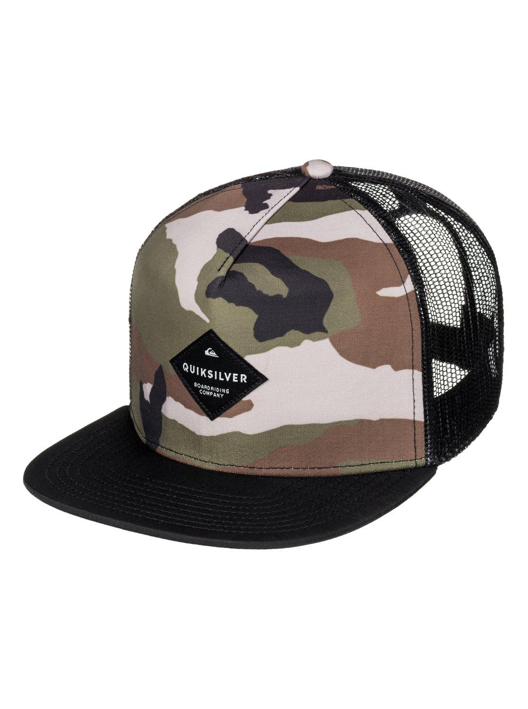 0 Boy s 8-16 Brillings Trucker Hat AQBHA03254 Quiksilver c05dc308524