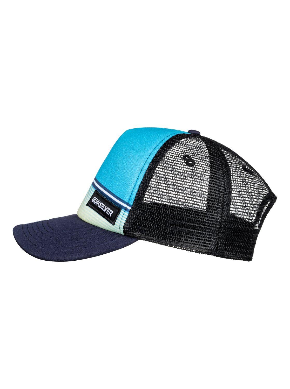 bbc53fc4 ... closeout quiksilver stripe stare trucker hat boys 2 7 30873 49740