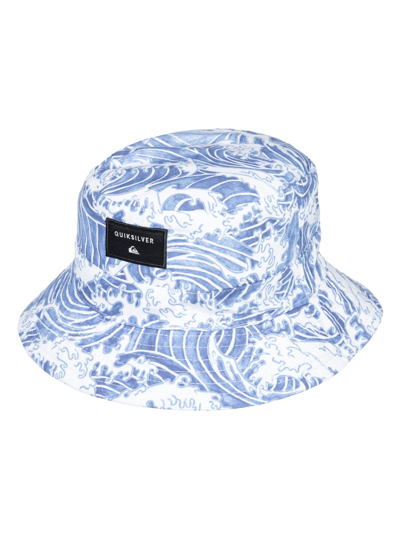 0 Boy s 2-7 Rusturner Reversible Bucket Hat White AQKHA03227 Quiksilver b4fe273706d