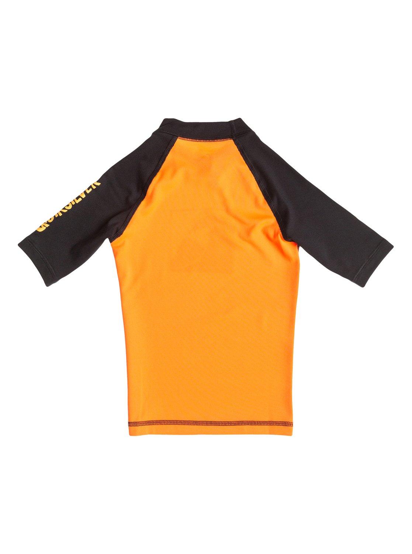 7e9edf9e4a 1 Boys 2-7 Main Peak Short Sleeve Rashguard Black AQKWR03001 Quiksilver