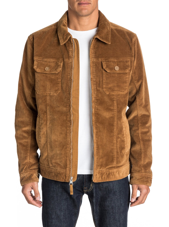 Cord jacket camel