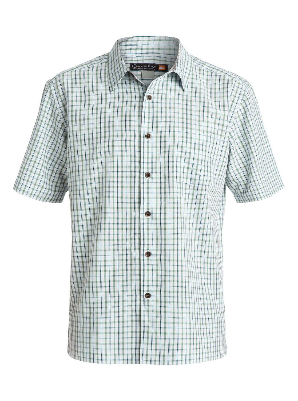 a079cd053ced5 0 Men s Granada Short Sleeve Shirt Blue AQMWT03097 Quiksilver