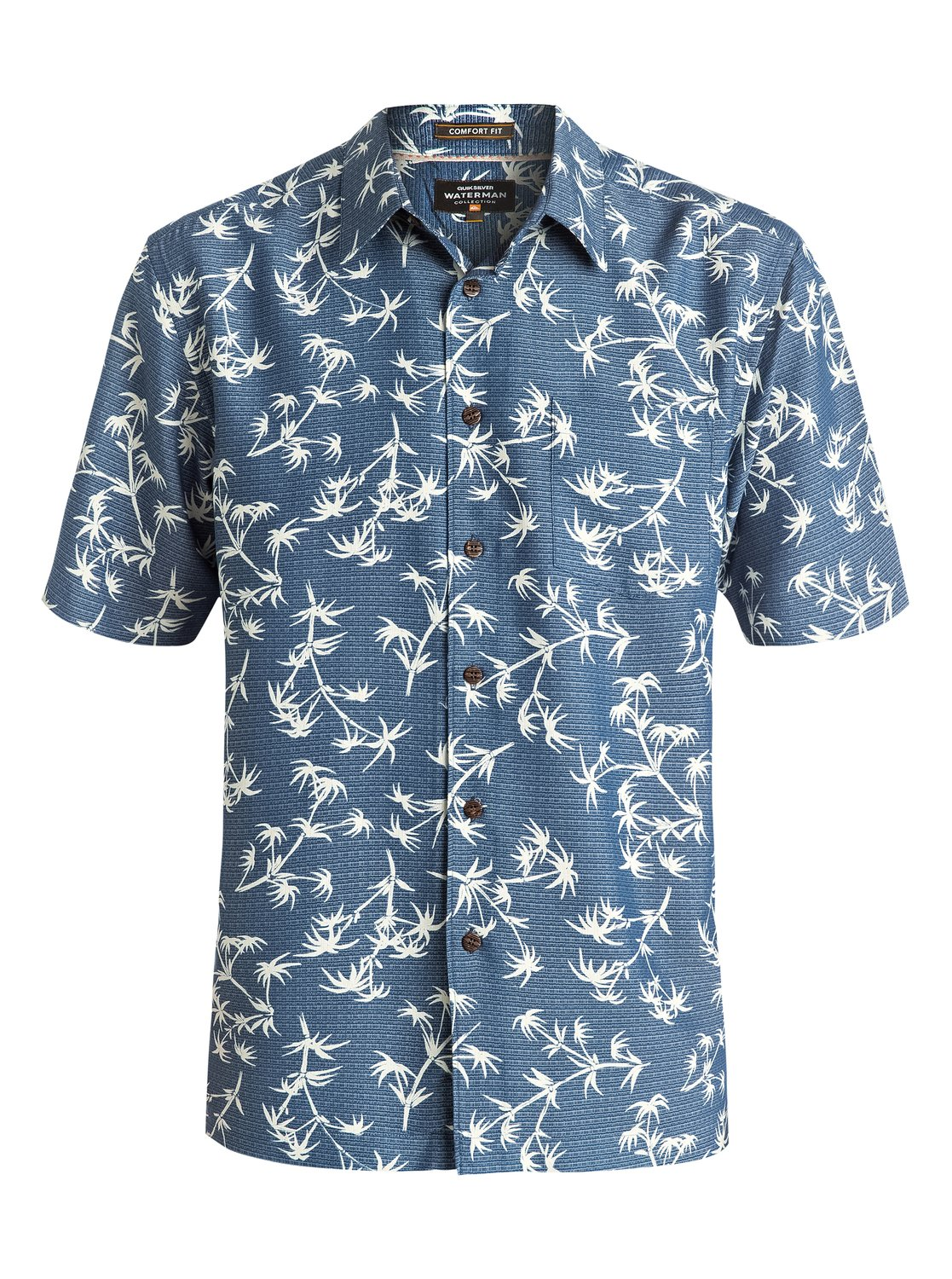 d7c96906118 2 Waterman Skinny Palms - Short Sleeve Shirt AQMWT03321 Quiksilver