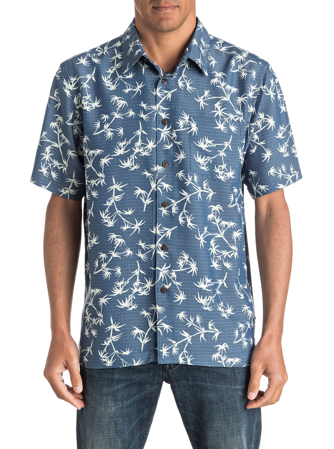 d8d307e537b 0 Waterman Skinny Palms - Short Sleeve Shirt AQMWT03321 Quiksilver