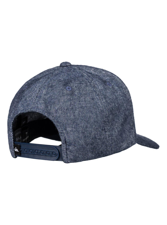 size 40 588d4 84b6f 2 Decades Plus - Snapback Cap for Men Blue AQYHA03838 Quiksilver