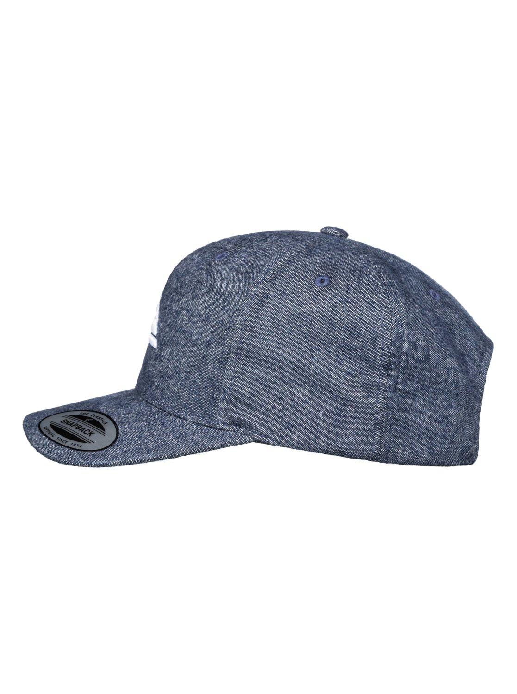 brand new 775a1 28f7a 1 Decades Plus - Snapback Cap for Men Blue AQYHA03838 Quiksilver