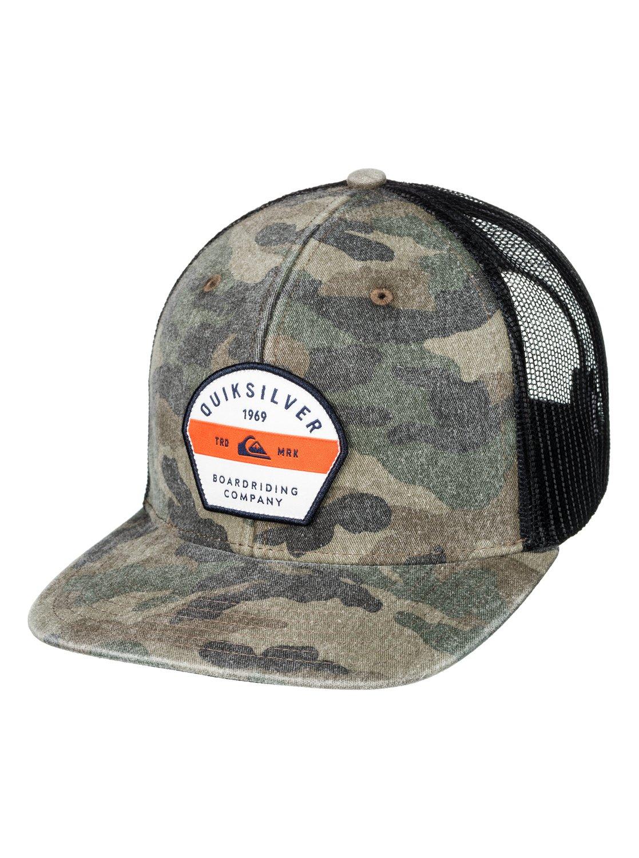 0 Silver Lining Trucker Hat Green AQYHA03845 Quiksilver 80efb7ed65a