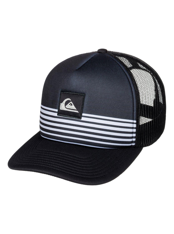 8d34564205b 0 Stripe Block Trucker Hat AQYHA03851 Quiksilver