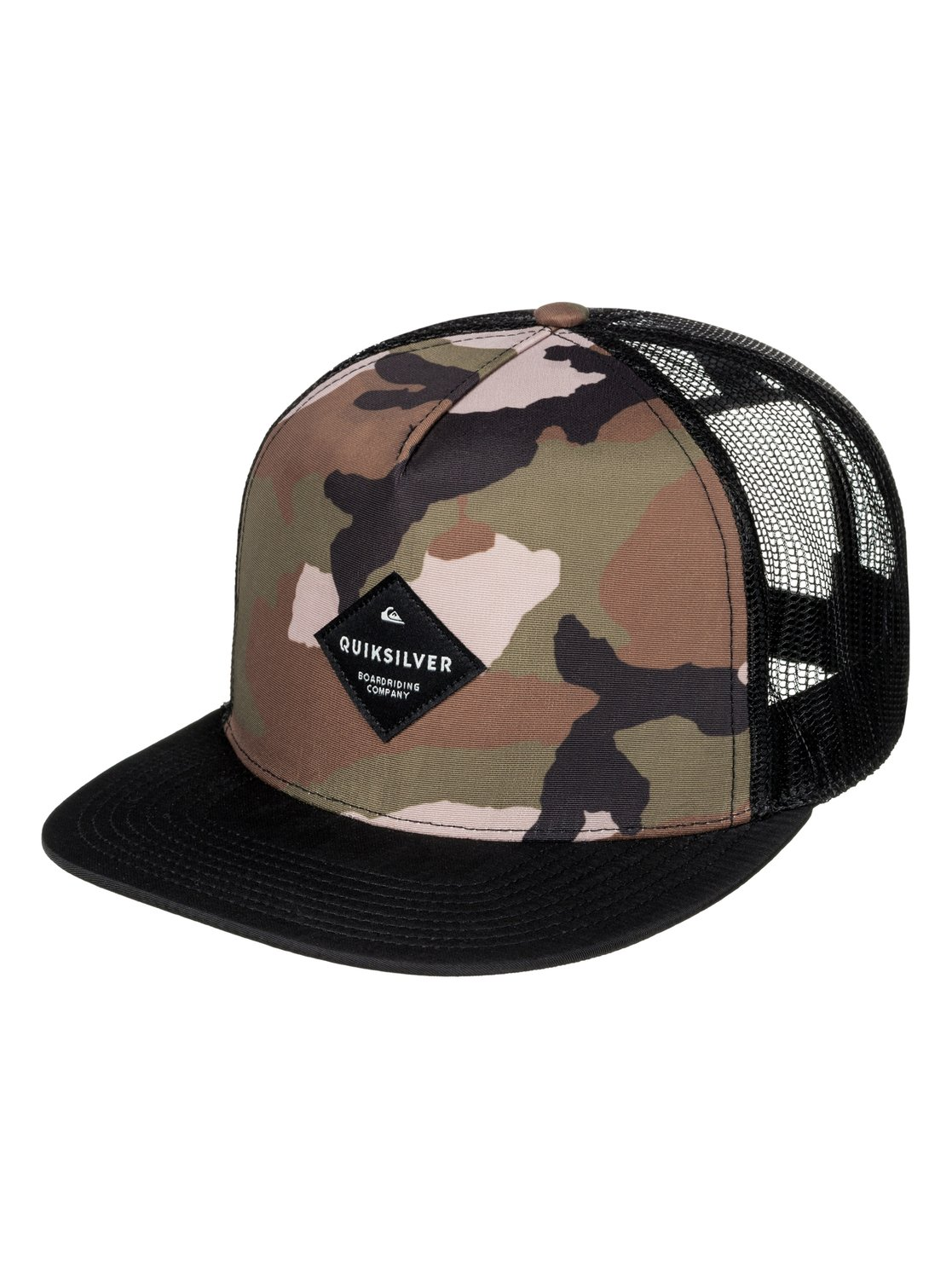 sports shoes ef6f9 31cc8 inexpensive quiksilver camo trucker hat 2c7ae f019a