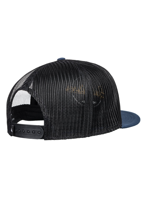 Turnstyles Trucker Cap In Black - Black Quiksilver B2ZGAU