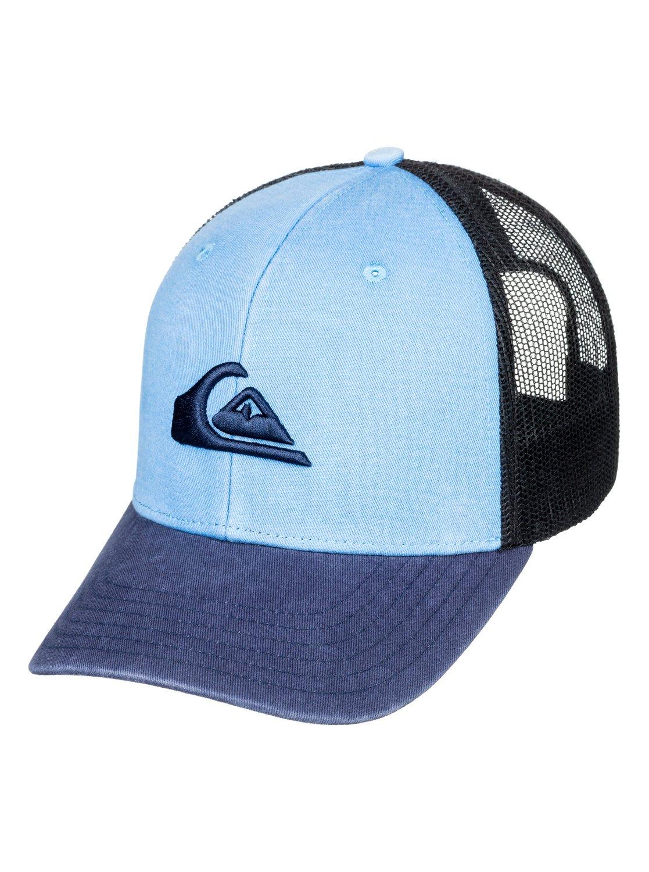 ec8669480a3 0 Grounder Trucker Hat Blue AQYHA03997 Quiksilver