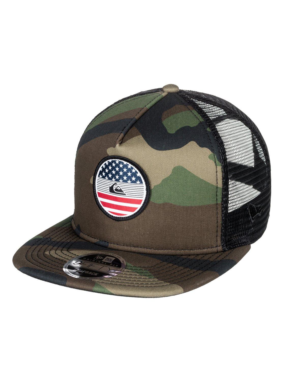 0 Flag Trucker Hat AQYHA04068 Quiksilver 4634a84cb0d