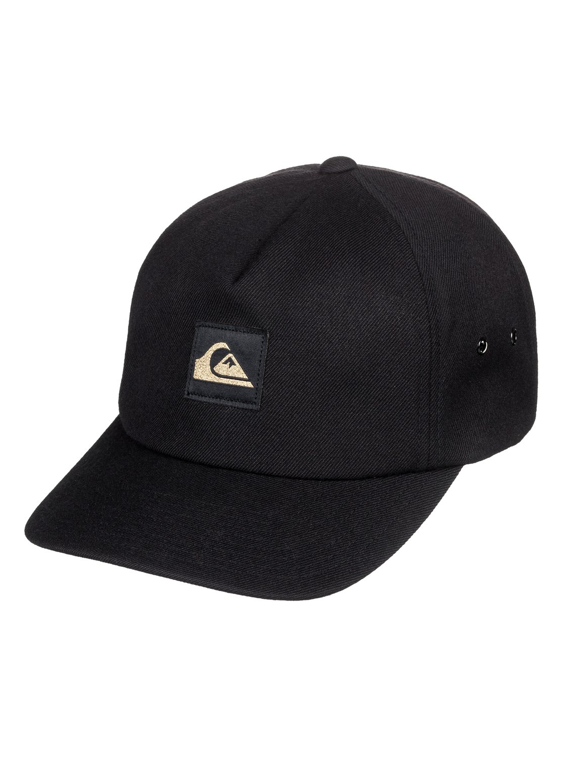 0 50th Gold Snapback Hat Black AQYHA04373 Quiksilver |