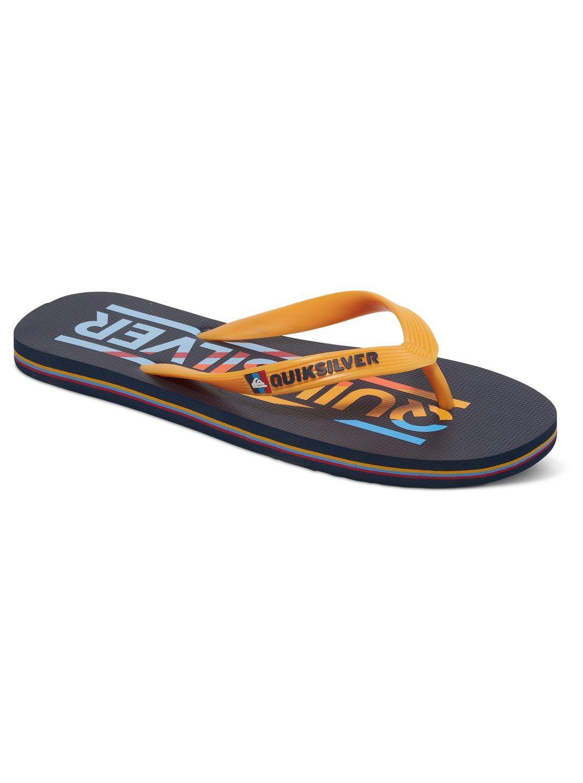 Mens/Boys Quiksilver Molokai Sandal Size 4- Yellow / Black - New