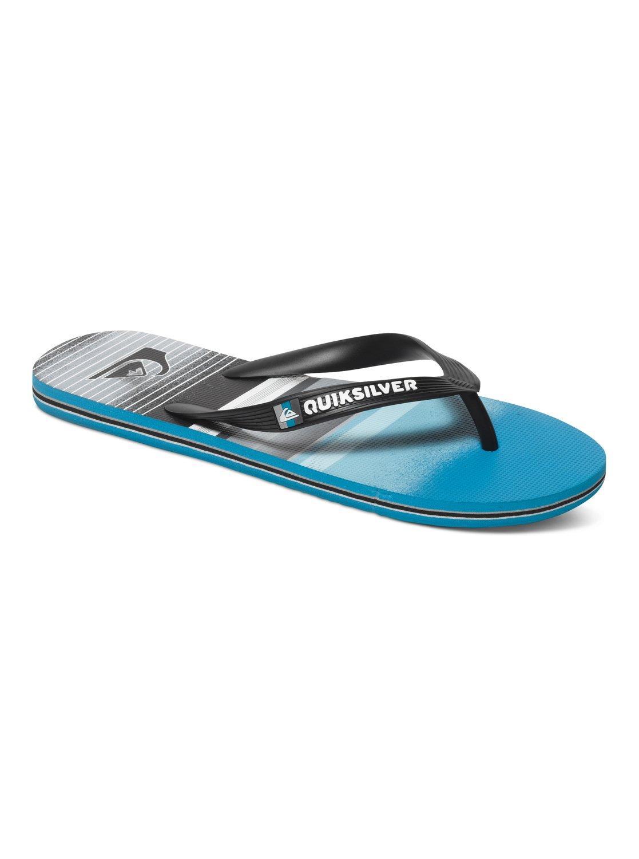 Quiksilver Molokai Flip Flop In /Blue/Gray 85lvl0w8O