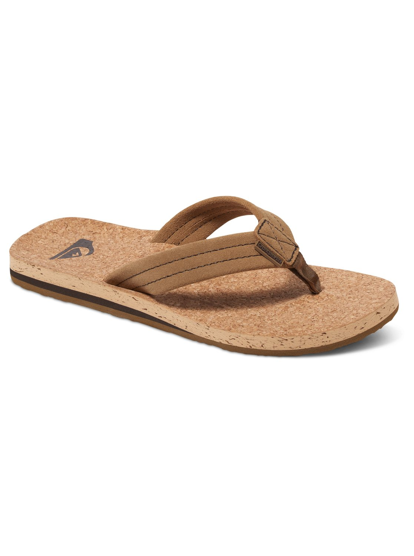 Quiksilver Carver Cork Sandals (Brown)