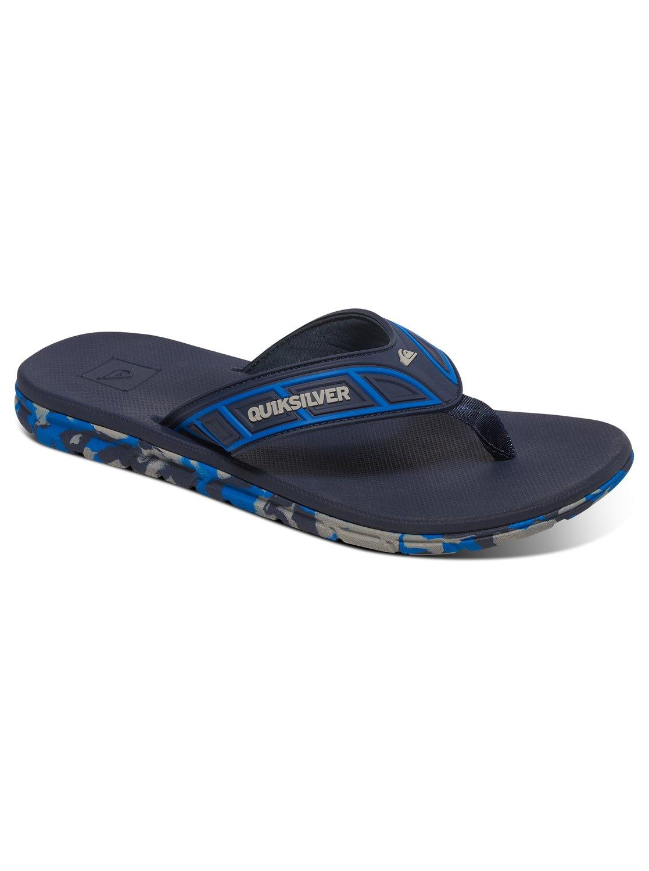 Quiksilver Monkey Texture Bleu - Chaussures Tongs Homme
