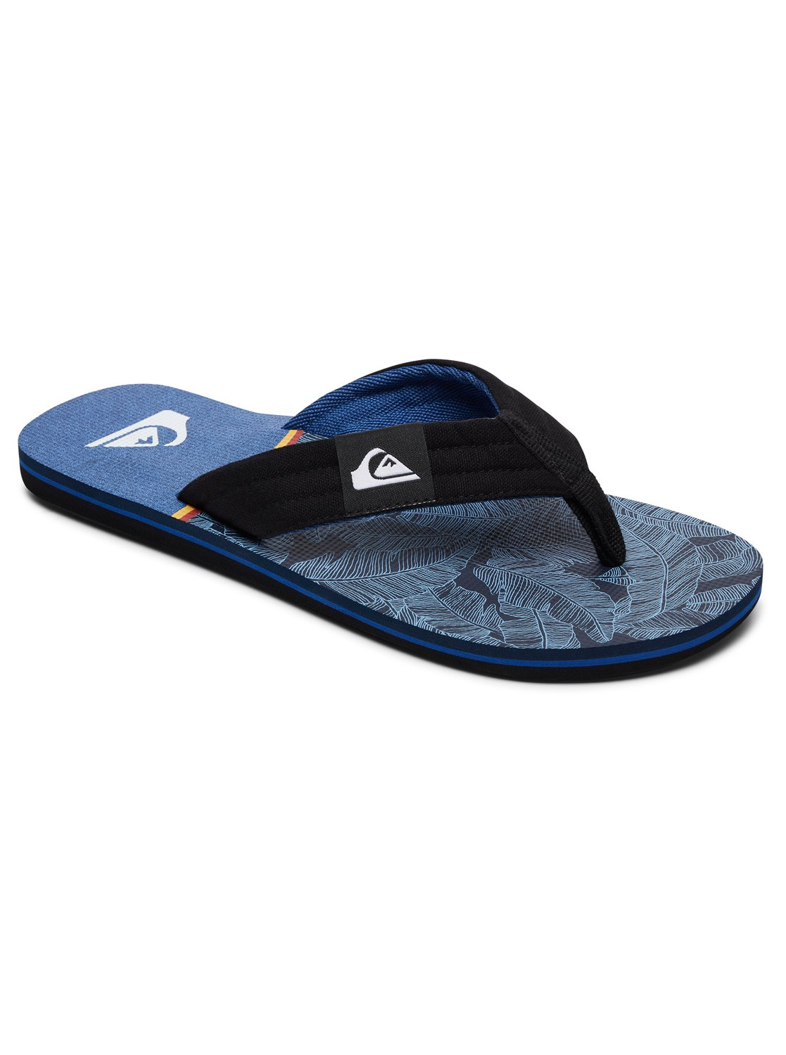 Quiksilver Molokai Layback Black / Blue / Blue - Chaussures Tongs Homme