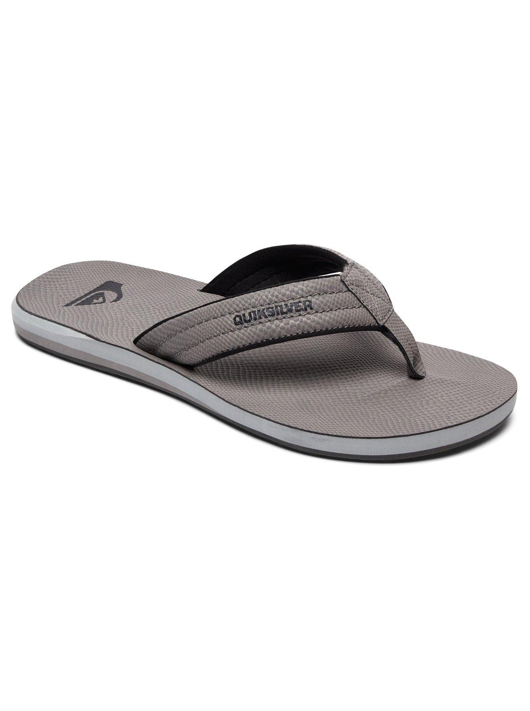 Quicksilver Carver Nubuck GREY/GREY/GREY Flip Flops Sandals UK 8 - EU 42