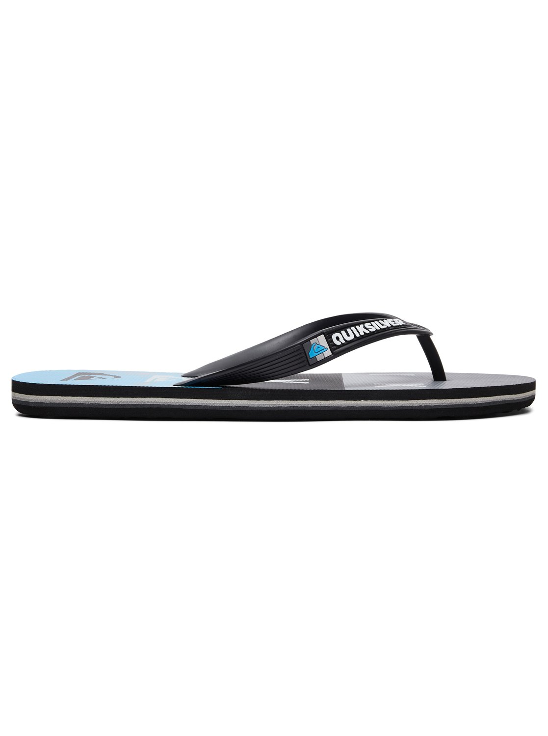 1 Molokai Wordblock - Flip-Flops for Men Black AQYL100788 Quiksilver 2c85fac6f98
