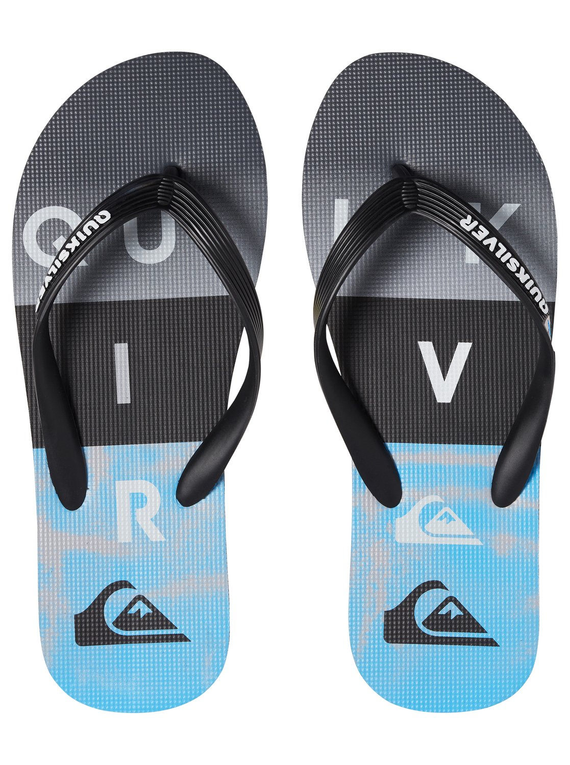 2 Molokai Wordblock - Flip-Flops for Men Black AQYL100788 Quiksilver 898a4abbc65