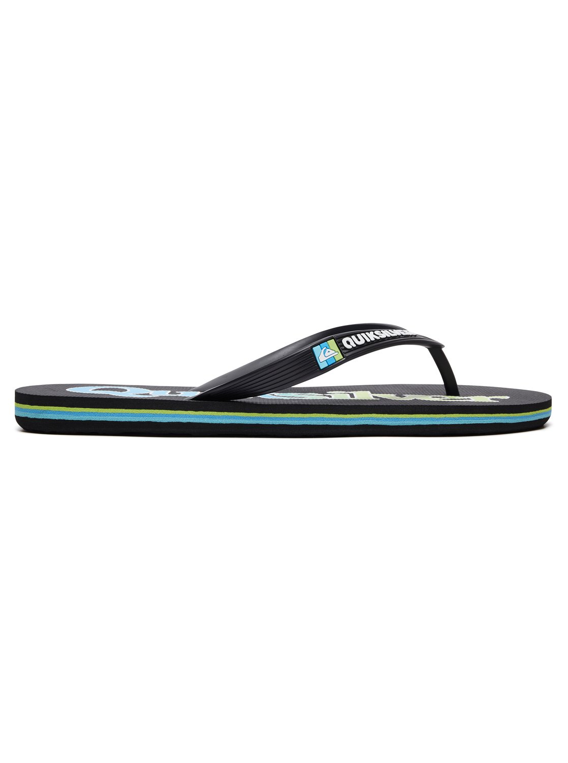 1 Molokai Wordmark Fineline - Flip-Flops for Men Black AQYL100810 Quiksilver 762d0f2c4ef