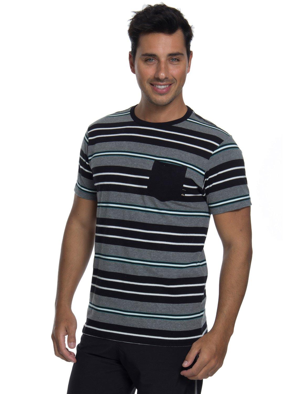 0 Camiseta Manga Curta Slim Fit Funghi Quiksilver Preto BR61142851  Quiksilver c999c17253d