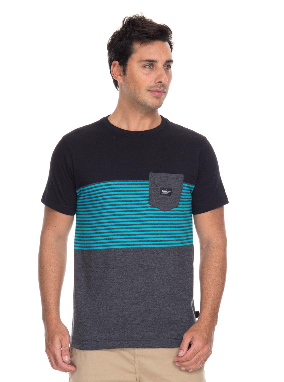 b48c8255e0 0 Camiseta Listrada Volley Quiksilver Preto BR61142959 Quiksilver