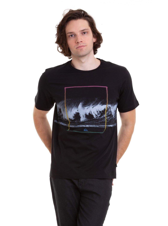 0 Camiseta Heavy Vibe Quiksilver Preto BR61142970 Quiksilver d691145d68b25