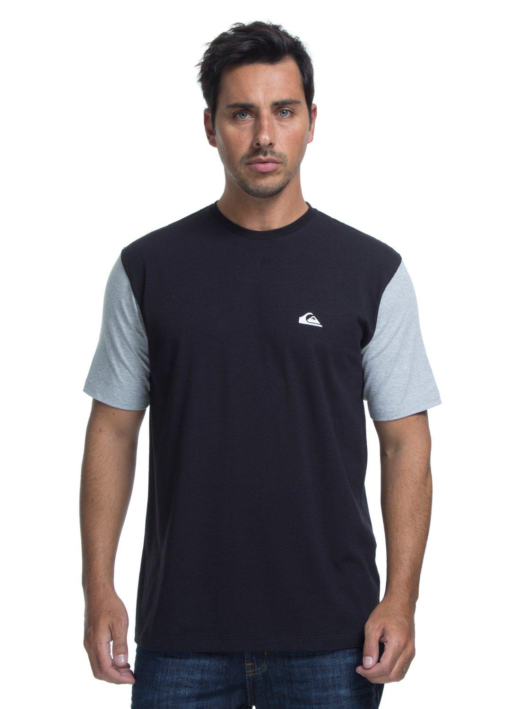 0 Camiseta Lycra Surf Tee Logo Quiksilver Preto BR61151050 Quiksilver 5543ce5e8aac8