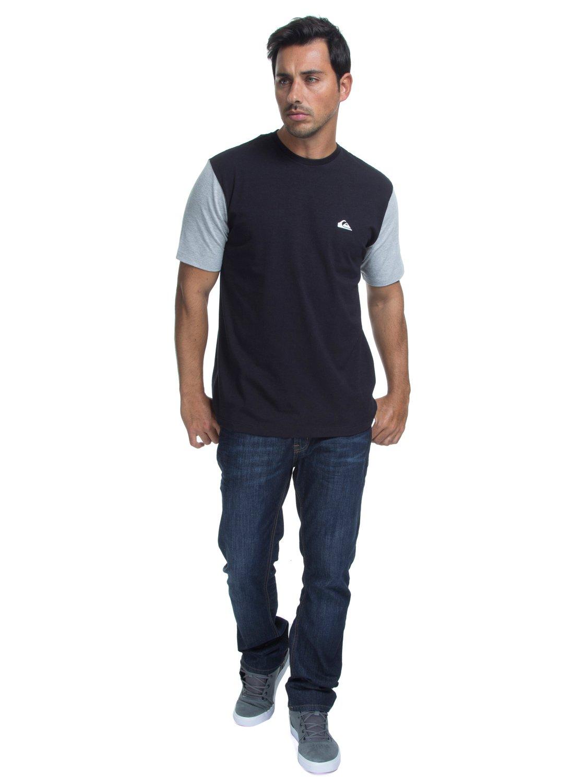 1 Camiseta Lycra Surf Tee Logo Quiksilver Preto BR61151050 Quiksilver e68e4c30bf54a