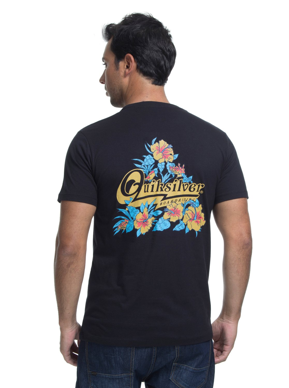 2 Camiseta Manga Curta Slim Fit Hoodie Loves Quiksilver Preto BR61241590  Quiksilver a74fa7adf2