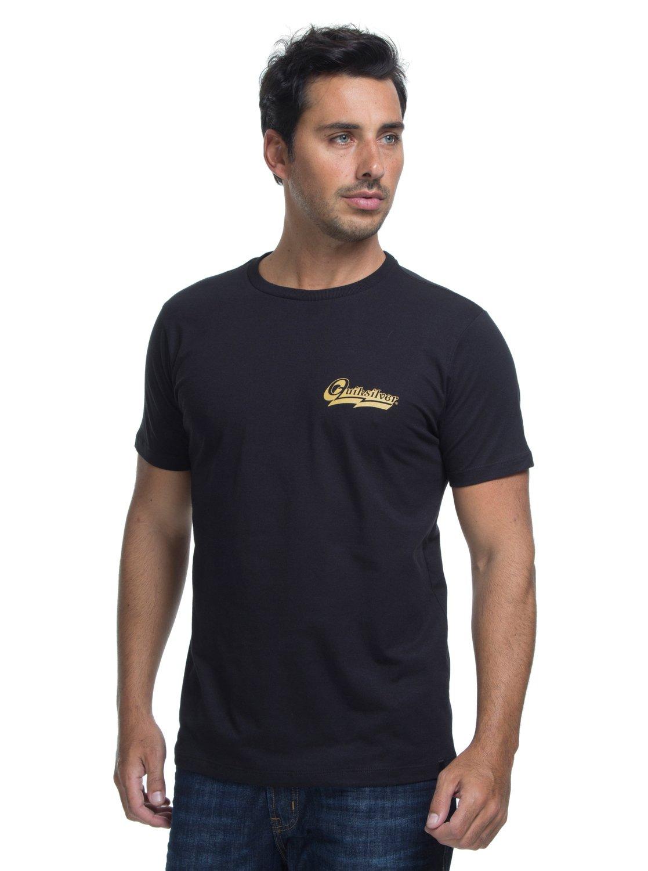 0 Camiseta Manga Curta Slim Fit Hoodie Loves Quiksilver Preto BR61241590  Quiksilver 2ac5bc30917