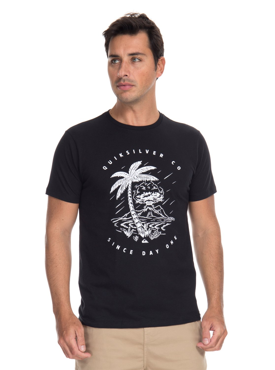 c67a233f83 0 QK CAMISETA SLIM FIT M C SINCE ONE DAY Preto BR61241613 Quiksilver