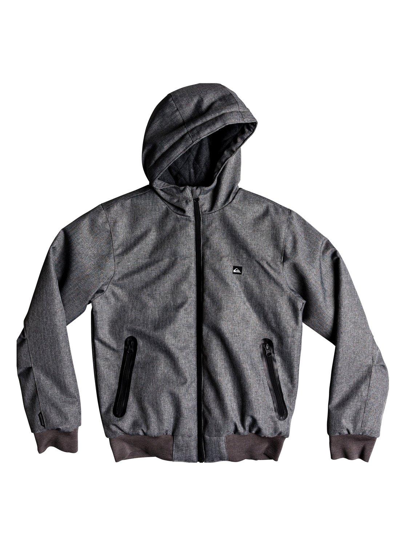 c9c9990d57018 0 Brooks 5K - Waterproof Hooded Jacket for Boys 8-16 Grey EQBJK03154  Quiksilver