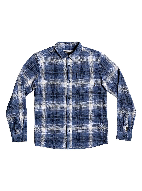 0 Fatherfly - Langarm-Hemd für Jungen 8-16 Blau EQBWT03225 Quiksilver c53350985d