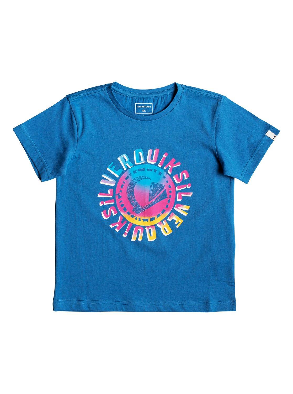 0 Rasta Logo - T-Shirt for Boys 2-7 Blue EQKZT03294 Quiksilver b2cfc0a95710c