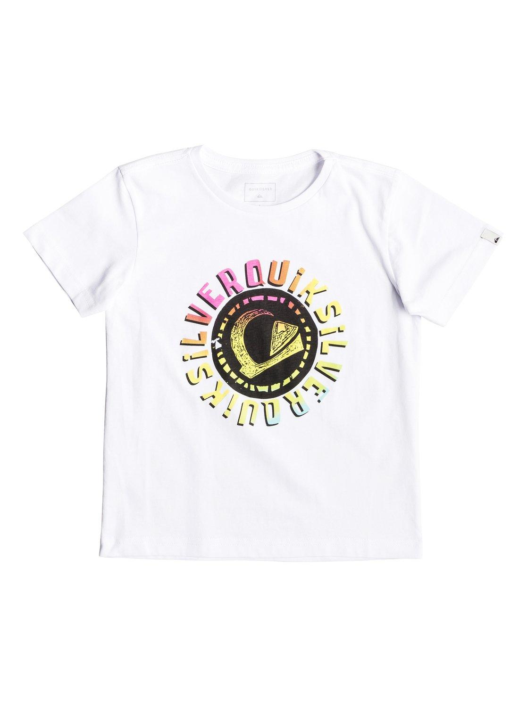 0 Rasta Logo - T-Shirt for Boys 2-7 White EQKZT03294 Quiksilver d2b243655248e
